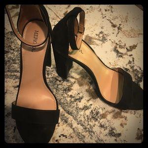 Merona block sandal heels